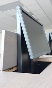 Desk Push Lid Monitor